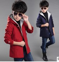 Wholesale HOT Selling boys Jacket New Children s Clothing Autumn Winter Tide Coat and Long Sections Windbreaker Woolen Jacket boy