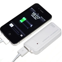 Wholesale Emergency Phone Charger Battery Aa - Double AA Battery Portable Emergency USB Charger for iPhone iPod Samsung phones