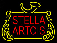 "Wholesale beer logo signs - Stella Artois Beer Bar Neon Sign Pub Store KTV Club Restaurant Display Neon Signs Real Glass Tube Custom Logo Advertisement 17""X14"""