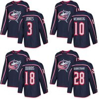 Wholesale Flash Jackets - Customized Mens 2017-2018 Columbus Blue Jackets 3 Seth Jones 10 Alexander Wennberg 18 Pierre-Luc Dubois 28 Oliver Bjorkstrand Hockey Jerseys