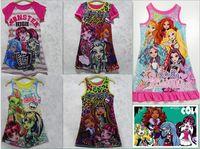 kostenlose fedex kleidung großhandel-DHL / FEDEX geben 5 Arten Mädchen-Sommer-neues Monster-hohes Sleeveless Westerock Kleiderprinzessin Kleid Baby-Kleidung frei