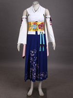 yuna costumes achat en gros de-Wholesale-Final Fantasy X Yuna anime cosplay Costumes d'Halloween