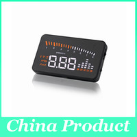 "Wholesale One Way Auto Alarm - X5 3"" Universal Auto Car HUD Head Up Display Overspeed Warning Windshield Project Alarm System Fuel Consumption OBD II Interface 002988"