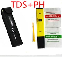 Wholesale Digital Ph Meter Tester Pool - Digital PH Meter + TDS Tester Monitor for Aquarium, Fishing, Industry, Swimming Pools, Laboratory, Food 0-9999 PPM