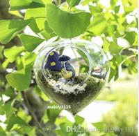 посадка лука оптовых-набор из 4 китайский стиль лук в форме стекла висит плантаторы / воздушные растения террариум для украшения дома моды / сад декор / зеленые подарки