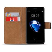 iphone 5c kreditkartenetui großhandel-Für iphone xr xs xs max x echtes echtes leder brieftasche kreditkarteninhaber ständer case abdeckung für iphone 8 8 plus 7 7 plus 6 6 plus 5 se 5c