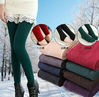 Wholesale Leggins Women Winter - Wholesale-Women Leggins Pants 2015 Fitness Legging Winter Warm Leggings For Women Jegging Atacado Roupas Calcas Femininas
