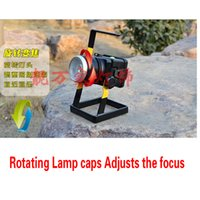 lampe de poche focalisable achat en gros de-2016 Rechargeable LED Floodlight Projecteur Focusable High Beam LED Light Flashlight Portable LED Lighting Le Rescue Lights Outdoor Lights