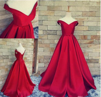 Wholesale Corset Floor Length Prom Dress - Real Image Simple Red Carpet Prom Dresses Off Shoulder Ruched Custom Made Backless Corset Vintage Evening Gowns 2017 Formal Occasion Dresses