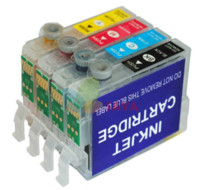 Wholesale Empty Refillable Ink Cartridge Set - 6pcs set Refillable ink cartridge T0801 FOR epson STYLUS R265 R360 RX560 R285 R585 R685 with AUTO RESET CHIP free shipping