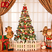 Wholesale Luxury Decorated Christmas Trees - 1.5 m luxury Christmas tree decorated Christmas tree package 150cm with fruit lamp upscale Christmas decorations