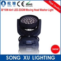 Atacado-36 * 10W 4in1 LED Zoom Moving Head Light LED lavador luz equipamento de palco / SX-MH3610Z