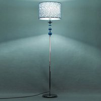 Wholesale Blue Floor Lamps - Blue Crystal Fabric Living Room Floor Lamps European Simple Study Room Floor Lamp Bedroom Floor Lights Fixtures