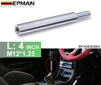 Wholesale shift extension - 4inch M12x1.25 Lighter Aluminum Polished Shift Knob Extension Extender For Manual Gear Shifter Lever EP-YCG12125-4