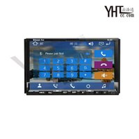 Wholesale Rear Camera Double Din Car DVD Player with G Radio Bluetooth GPS Navigation Ipod TV Touch Screen Car DVD Player