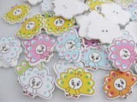 Wholesale Novelty Buttons Wholesale - WBNVNO Peacock Animal Buttons Printed 100pcs Mix Novelty Button baby sewing scrapbooking accessories