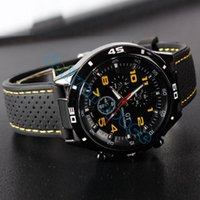 Wholesale silicone chronograph watch - Free Shipping New 2014 Top Men Brands Luxury Men Silicone Strap Quartz Watch Military Watches Men Sports Watch #12 SV005018