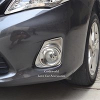 Wholesale Toyota Corolla Fog Cover - For Toyota Corolla 2011 2012 2013 Front Fog lights Cover head Foglight Trim ABS Chrome Decoration Stickers Car-Styling Accessories