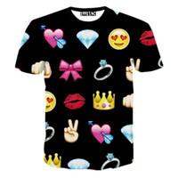 homens quentes v camisetas venda por atacado-FG1509 2015 moda 3d emoji t estilo quente emoticons tshirt verão engraçado roupas homens / menino top tees t-shirt hip hop clothing