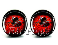 Wholesale Spider Lucite - Wholesale ear gauges 60pcs bag bloody spider ear plug gauges tunnel ear expander ASP0521