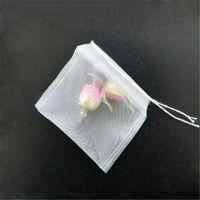 Discount tea fine - 6*7cm Reusable With String Hanging Tea Empty Bags Fine Nylon Mesh Strain Filter Bag Herb Loose DIY Cup Tea Strainer aa264-271 2017120101