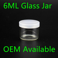 Wholesale Wholesale Food Bottles - Food Grade 6ml Non Stick Glass Concentrate Container Glass Bottle Wax Dab Jar Thick Oil Container VS 5ml Glass Jar dhl free shipping