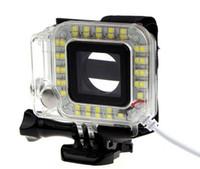 lentes de flash al por mayor-Nuevo llega el anillo de la lente del USB Luz de destello del LED Noche de tiroteo para la cámara del deporte Héroe 3 + 4 Envío libre