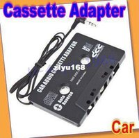 No atacado, Transporte Livre de 10pcs/lot CARRO NOVO FITA CASSETE ADAPTADOR PARA MP3 MP4 IPOD NANO LEITOR de CD, MD