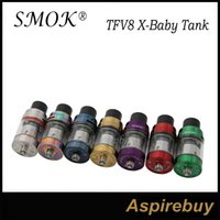 Wholesale Tank Top Large - Smok TFV8 X-BABY Tank 4ML Top Fill Swivel Design with Large Fill Hole with V8 X-Baby Q2 M2 Core Standard Edition 100% Original Massive Cloud