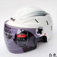 Wholesale German Tank Helmet - Wholesale-Wholesale German tank helmet motorcycle electric bicycle helmet t503 white Free Shipping