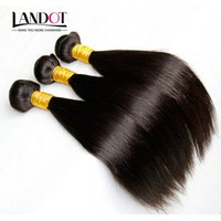 chinese gerade reine haarverlängerungen großhandel-3Pcs Lot Jungfrau-Chinese-Haar-seidige gerade chinesische Remy Menschenhaar-Webart-Bündel natürliche schwarze chinesische Haar-Verlängerungs-Verwicklungs-frei