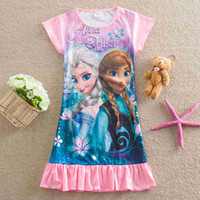 Wholesale Childrens Clothes Sales - 2015 hot sale kids frozen pajamas girls 3 colors forzen pajamas childrens pajamas kids summer pajamas childerns summer clothes