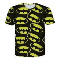 Wholesale Batman Tshirt Women - New batman male shirt 3d printed tees t-tshirt casual tops brand hip pop punk mens colorful shirt women printed t shirt men