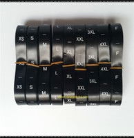 Wholesale clothing labels online - roll black color Garment neck size labels clothing size tags