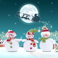 Wholesale Snowman Ornaments Sale - Hot Sale New Style Christmas Snowman Hanging Pieces Christmas Ornament XMAS Tree Decoration 3pcs H15972