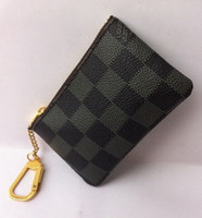 Wholesale Men Leather Wallet Coin Pouch - 2018 KEY POUCH Damier canvas holds high quality famous classical designer women key holder coin purse small leer