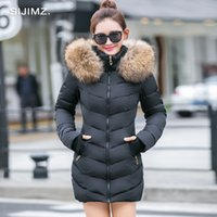 Wholesale Spring Women S Down Jacket - Wholesale- SIJIMZ 2017 Spring Autumn Warm Winter Jacket Women New Fashion Women's Solid Color Cotton Coat Outerwear