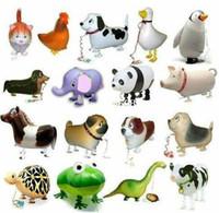 mascotas globos al por mayor-Los modelos híbridos del envío del modelo libre del surtido 20pcs / lot que camina del globo del animal doméstico de los niños animales de los globos juegan el regalo de la muchacha del muchacho
