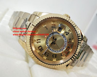 Wholesale Sub Gold - Luxury High Quality Wristwatches 42mm 326938-72418 Sky Dweller Sub Dial Working 18k Yellow Gold Mechanical Automatic Mens Watch Watches