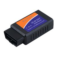 Wholesale Obd2 Adapter For Iphone - OBD2 OBDII Car Auto Diagnostic Scanner Adapter Reader for Iphone 4S 5 Ipad 4 Ipad mini iOS PC Smartphone ELM327 WIFI OBD2 OBDII
