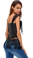 Neue Frauen Steampunk Kunstleder Taille Cincher Lace up Knochen Bustier Top Korsett Kleid Vollbrust Brokat Sexy