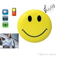 10pcs Cute Hook Smile Face reproductor de MP3 con Clip Mini DV oculto coche DVR cámara espía Digital Video Recorder Hidden HD Pin cámara estenopeica