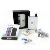 kit de inicio nebox de kangertech al por mayor-Kit de inicio Kanger Nebox original Kit de Nebox kangertech 60W Cuadro TC Mod 10ml Mini RBA Plus con Código de autenticidad Nebox