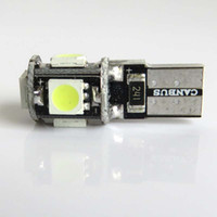 Wholesale Canbus Led Audi A4 - T10 5 smd 5050 led Canbus Error Free 360 Degree Car Lights 501 W5W 194 5SMD Auto Lights Bulb NO OBC ERROR Sidelight