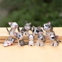 Wholesale Dolls Kitty - LilyToyFirm Multi Color Micro Cute Kitty Mini Chis Chi Sweet Home Figures Dolls Cat Kitten Emoji Decoration Model Toys Action Figure Doll