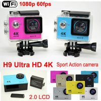 H9 Ultra HD 4K Sports Action Câmera 2.0 LCD 1080p 60fps H.264 Waterproof Wifi ação Cam HDMI para fora Video lente 170D