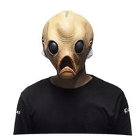Scary Alien Latex Masks Halloween ET Cosplay Props Party Fancy Dress Extra Terrestrial Mask Frete Grátis