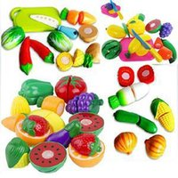 Wholesale Toy Cutting Fruits Vegetables - Children Kitchen Toys Funny Cutting Fruit Vegetable Pretend Toys Colorful Toys for Kids kitchen for children