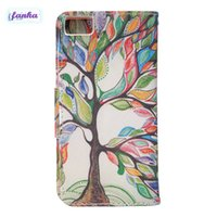 Wholesale Aquaris Flip - 30pcs For BQ Aquaris M4.5 Painting Print Petal Pattern Case Wallet PU Flip Leather Case Cover With Card Slots Pouch
