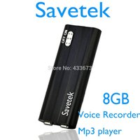 Wholesale new digital voice recorder - Wholesale-Savetek 2016 New Arrival MINI Clip USB PEN 8GB Voice Activated Digital Audio Voice Recorder Mp3 70hours Recording Black